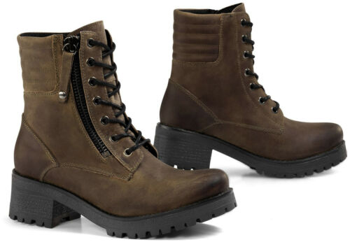 Falco Misty Ladies Motorcycle Boots Waterproof Lace Boots With Heel Ankle