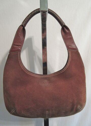 Salvatore Ferragamo, Medium Sz. Brown Suede & Leather Hobo/Shoulder Handbag