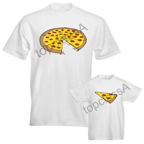 Whole Pizza Slice of Pizza Fathers Daddy Dad Son Daughter Mum Matching T shirts