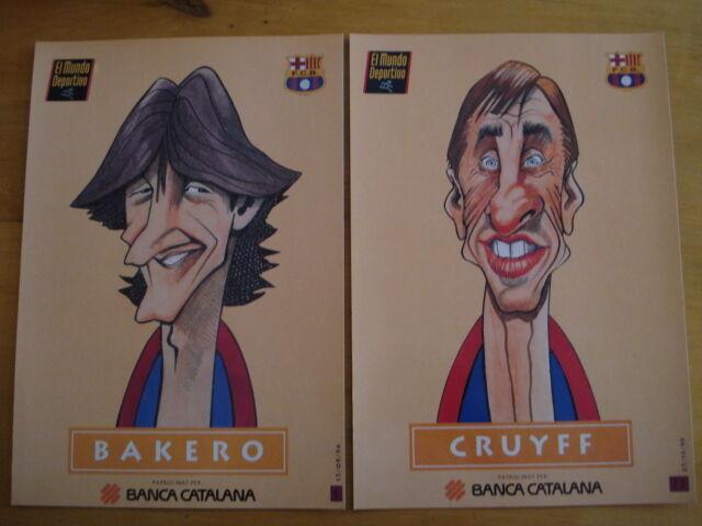 LOT DE 22 GRAVURES FOOTBALL EL MUNDO DEPORTIVO FCB FCB FCB FC BARCELONE ESPAGNE SPAIN 555433