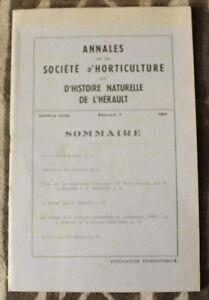 Horticulture & Histoire Naturelle De L'hérault ✤ Annales / N°1 De 1961 77ksrnpu-07175809-767548397