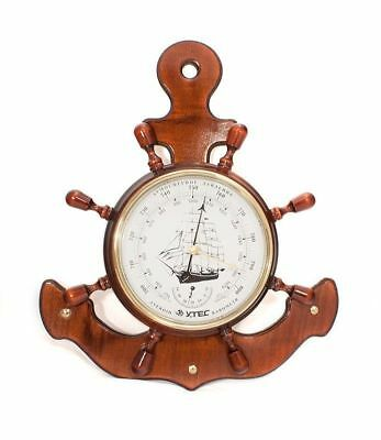 wall-type 175 NEW Barometer with termometer UTES from Russia natural wood frame