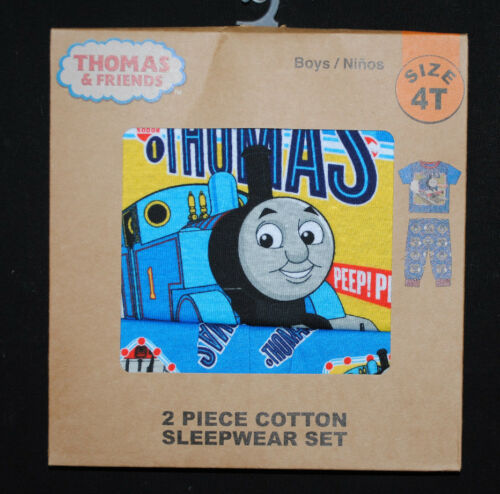 NEW THOMAS /& FRIENDS boys toddler sleepwear 2 piece train PAJAMA Gift SET 12M-5T