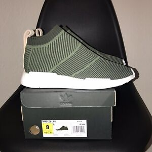 da32bd224 Adidas Originals NMD CS1 PK Primeknit Cargo Green White City Sock ...