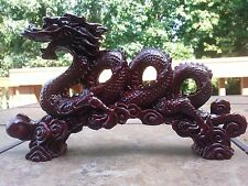 """Chinese Feng Shui Dragon Statue Lucky Wealth Figurine Gift & Home 11"""".5 L"""