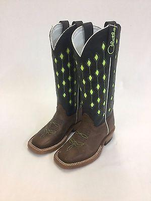 8f8620a87f3 Kid's Olathe Tall Top Boots w/Glow-in-the-Dark Diamond Inlay, Style CC034 |  eBay