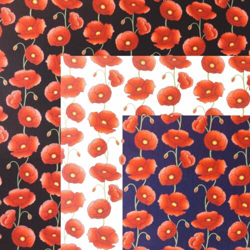 Floral Poppy From Rose /& Hubble Poppies Fabric 100/% Cotton Poplin