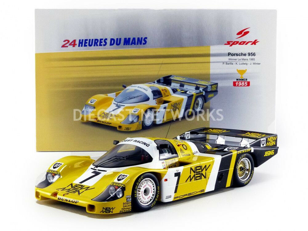 Spark PORSCHE 956 NEW MAN WINNER LE MANS 1985 Winter/Ludwig/Barilla  7 1/18 Nuovo