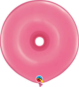DONUT-BALLOONS-FASHION-ROSE-25ct-QUALATEX-16-034-GEO-DONUT-MODELLING-BALLOONS