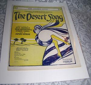 Vintage-Old-Paper-Sheet-music-1926-THE-DESERT-SONG