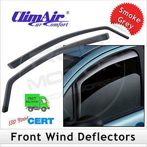 Car-CLIMAIR-Wind-Deflectors-AUDI-A4-B8-2007-2015-FRONT-Pair-NEW