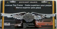 HARLEY DAVIDSON WINGS LICENSE PLATE TOP FRAME MOTORCYCLES HD NEW L845