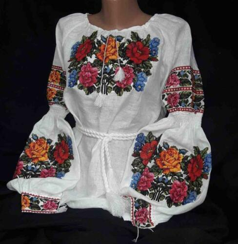 Ukrainian Embroidered Blouse for women Sorochka Vyshyvanka Tradition Shirt S-XXL