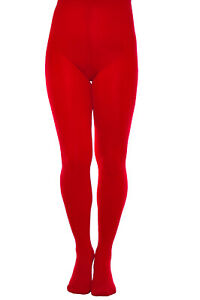 Classic-Plain-Red-Microfiber-Tights-60-Denier-Pantyhose-High-Quality-Hosiery