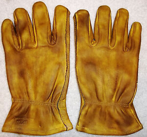 CUSTOM HAND FINISHED Oiled Leather Motorcycle Gloves Harley Chopper Vintage