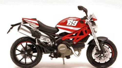 DUCATI N. 69 Modello Motocicletta 1:12 SCALA Diecast Modello Giocattolo Bicicletta Regalo di Natale