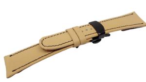 Bracelet montre avec plaque américaine disponible de 18mm à 24mm-Crocodile