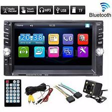 6.6'' Touch Screen 2 DIN Car MP5 Player Bluetooth Stereo Radio With Rear Camera