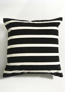 Pair Of 20 Square Indoor Outdoor Black White Striped Pillow Cover Patio Ebay