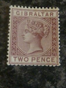 GIBRALTAR-POSTAGE-STAMP-SG10-TWO-PENCE-UN-MOUNTED-MINT