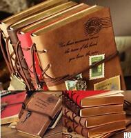 HO UK Retro Classic Vintage Leather Bound Blank Pages Journal Diary Notebook