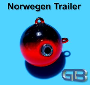 Norwegen-Trailer-40g-50g-115g-140g-170g-Sea-Trailer-Kugelblei-mit-Ose-Jigkopf