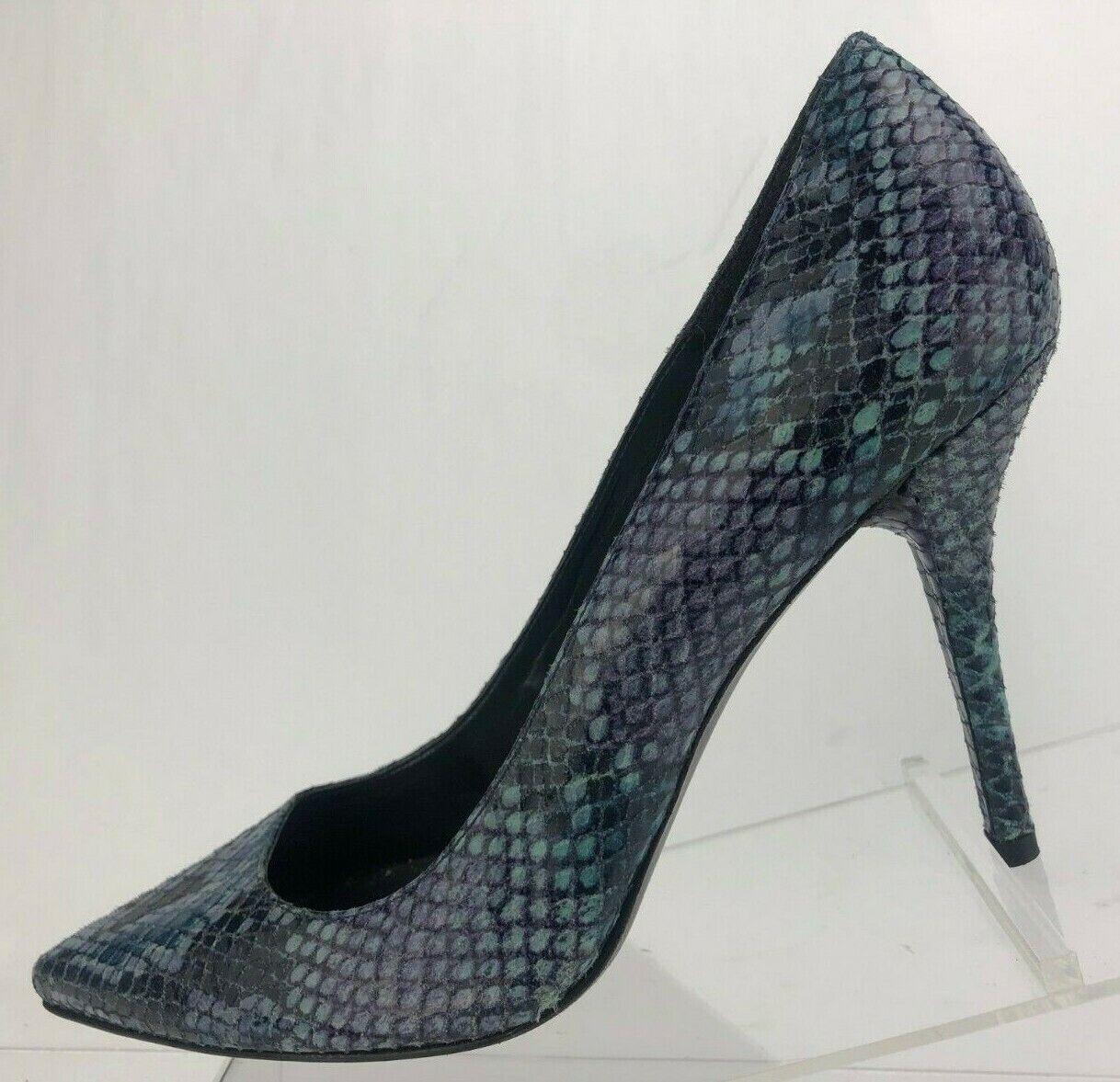 STUART WEITZMAN Escarpins Peau De Serpent MultiCouleure en cuir classique heels US 10
