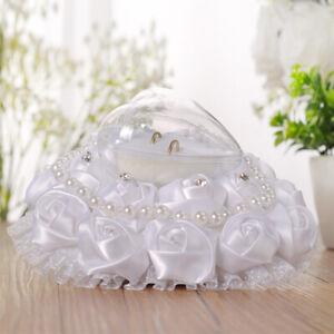 Cuscini Per Fedi Matrimonio.Cuscino Per Fedi Nuziali Bianco Portachiavi Per Anello Da