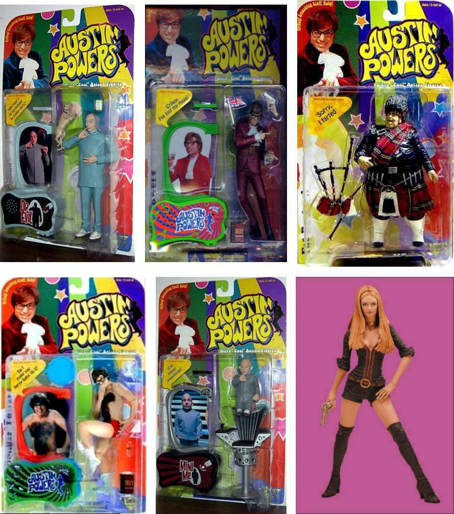McFarlane Toys Austin Powers Series 1 Dirty Set of 7 Action Figures New