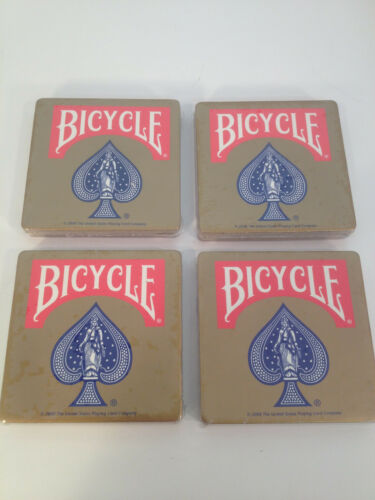 Thick Cork Mancave Bicycle Card Company New Sealed Set of 8 Coasters