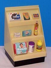 TYCO Barbie Kitchen Littles MINI FOOD MART SHELF Shelves Groceries Baby item Lot
