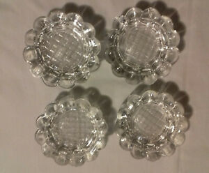 Bobèches Lot de 4 verres pour lustre  Murano - pour sciolari?