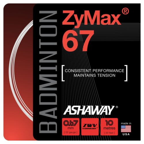 White, Yellow, Red and Black Available Ashaway Zymax 67 Badminton Set 0.67mm