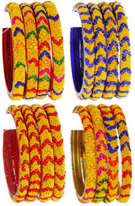 Indian-Jewelry-Bollywood-Bangles-Set-Glass-Bangles-Fashion-Ethnic-Partywear-4pc