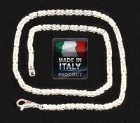 Königskette König Kette 50 Cm Echt 925 Sterling Silber Halskette Collier Neu Top