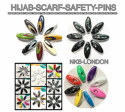 quality Hijab scarf Hat Abaya//scarf//Safety Pins Snag free Good Quality Plastic