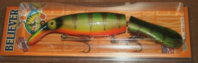 """10/"""" Believer Jointed Drifter Tackle Musky Pike Lure Crankbait Carp 1000J-40"""