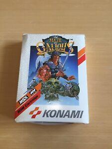 Rare-MSX-maze-of-Galious-Knightmare-2-jeux-cartouche-jeu-video-coffret-teste