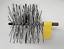 """thumbnail 1 - CFC019 150mm/6"""" dia Grey/White Nylon/Polypropylene Flue Brush Head w screw threa"""