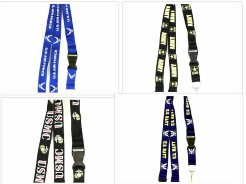 UNITED STATES U.S ARMY LANYARD KEYCHAIN KEYRING WITH NECK RELEASE WITH CLIP