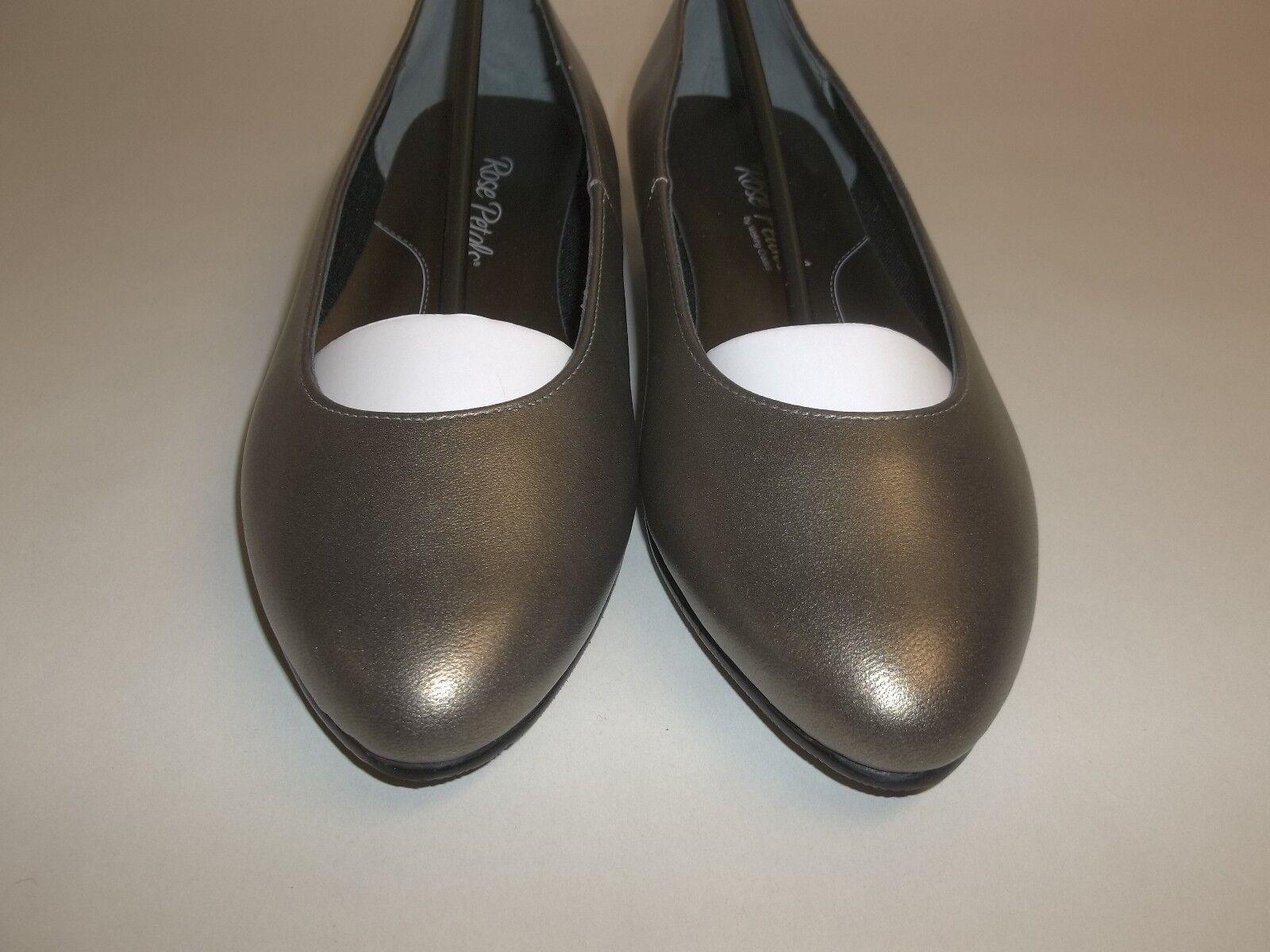 Rose Petals Sze 6.5 Wide BUTTER Bronze Leder Dress Pump Flats NEU Damenschuhe Schuhes