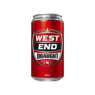 West End Draught Cans 30 Block 375mL case of 30 Australian Beer Lager