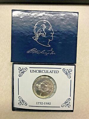 UNC With Box//COA 1982-D George Washington Half Dollar Silver Commemorative
