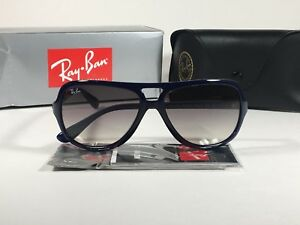 b301f40941 Ray-Ban Turbo Aviator Sunglasses Navy Blue Nylon Frame Gray Gradient ...