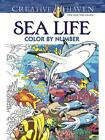 Creative Haven Sea Life Color by Number Coloring Book von George Toufexis (2015, Taschenbuch)