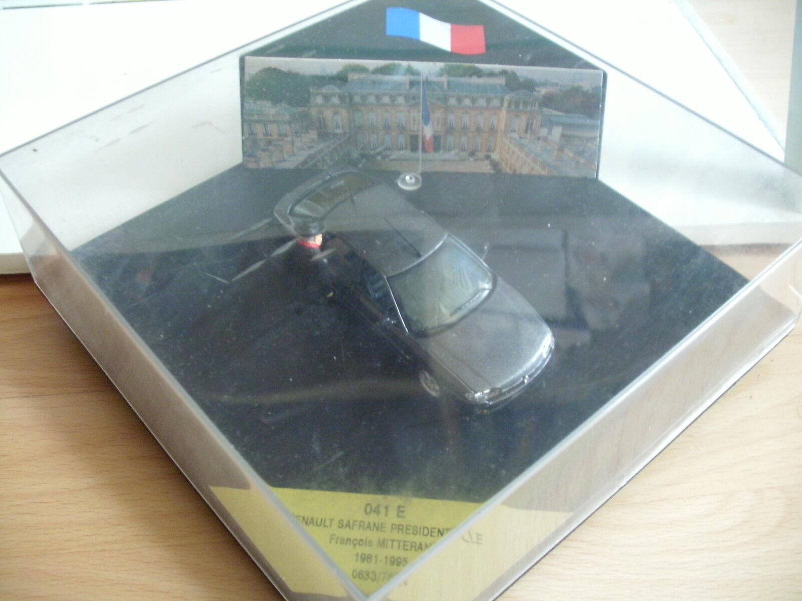 Vitesse Renault Safrane Presidentielle Francois Mitterand in Grey in dealer box