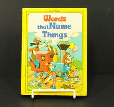 Walt Disney Productions Words That Name Things Book 1976 Learning Vocabulary