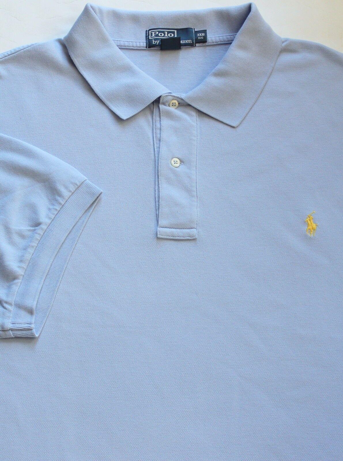 New Polo Ralph Lauren Winter bluee Cotton Mesh Polo Shirt   Big 3X