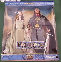 NIB Arwen & Aragorn Barbie DOLL 2003 THE LORD OF THE RINGS set Return of King
