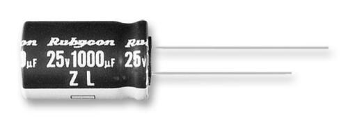 Rubycon ZL Series Minature Ultra Low Impedance Electrolytic Capacitors